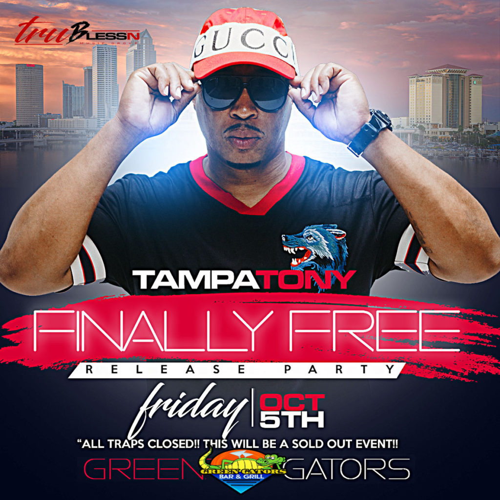 [EVENT] 10/5 TAMPA TONY RETURNS TO THE STAGE