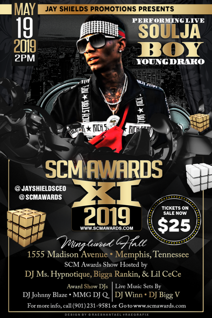 Event] #SCMAwards May 19th - Memphis, TN - Hustle & Grynd